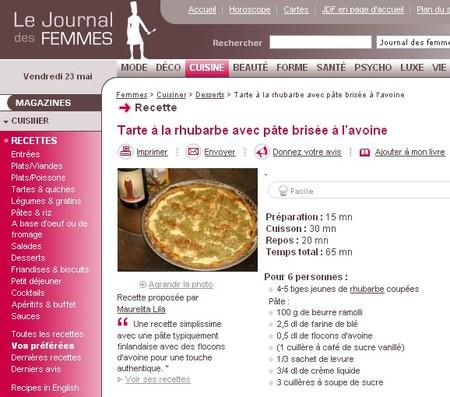 Cuisine journal des femmes - Journal de femmes cuisine ...